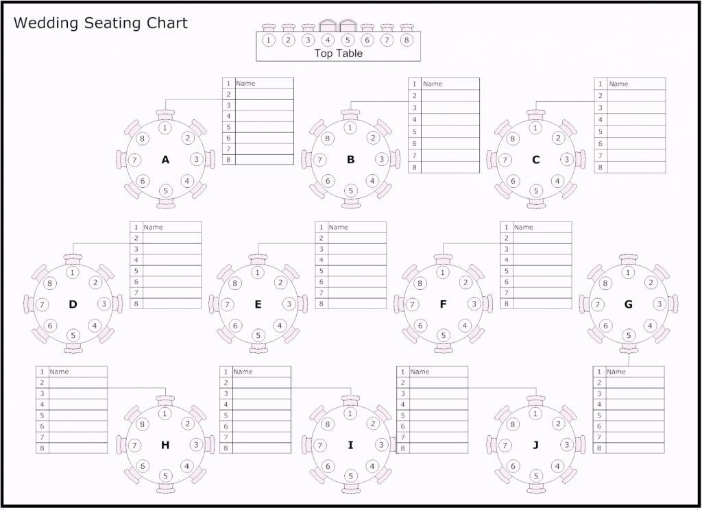Seating Chart Template Excel Planos De Mesas De Boda Asientos De Boda Asientos De Recepcion