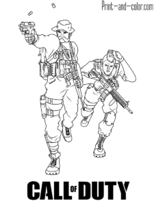 Call Of Duty Call Of Duty Coloring Pages Cartoon Coloring Pages