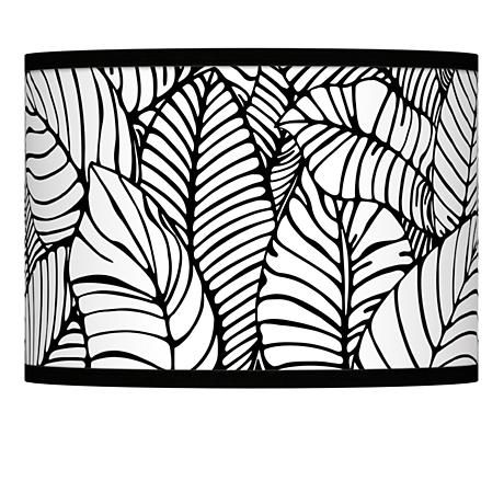 Tropical leaves giclee lamp shade 135x135x10 spider style tropical leaves giclee lamp shade 135x135x10 spider mozeypictures Gallery