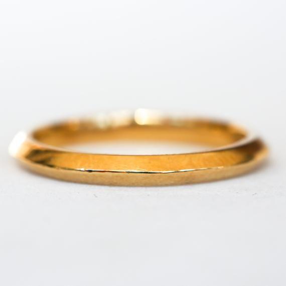 Antique Tiffany Company 18k Gold Knife Edged Wedding Band Yellow Gold Wedding Band White Gold Band Antique Tiffany