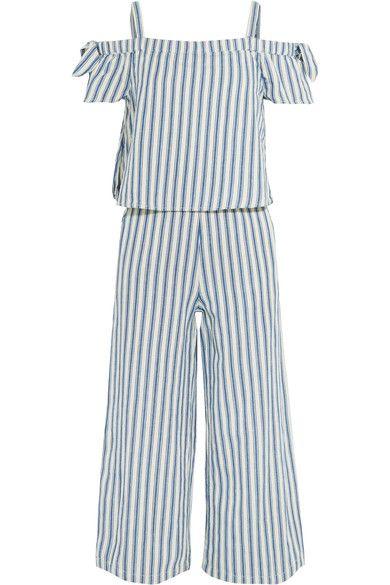 a1d6c95da8 Ecru and blue cotton and linen-blend Pulls on 86% cotton