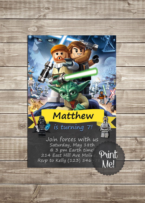Charming (Durée Limitée) LEGO Star Wars Invitation Imprimable Par TheBabyBakeryGifts  Sur Etsy Https://www.etsy.com/fr/listing/232178485/vente Duree U2026 | Pinteresu2026