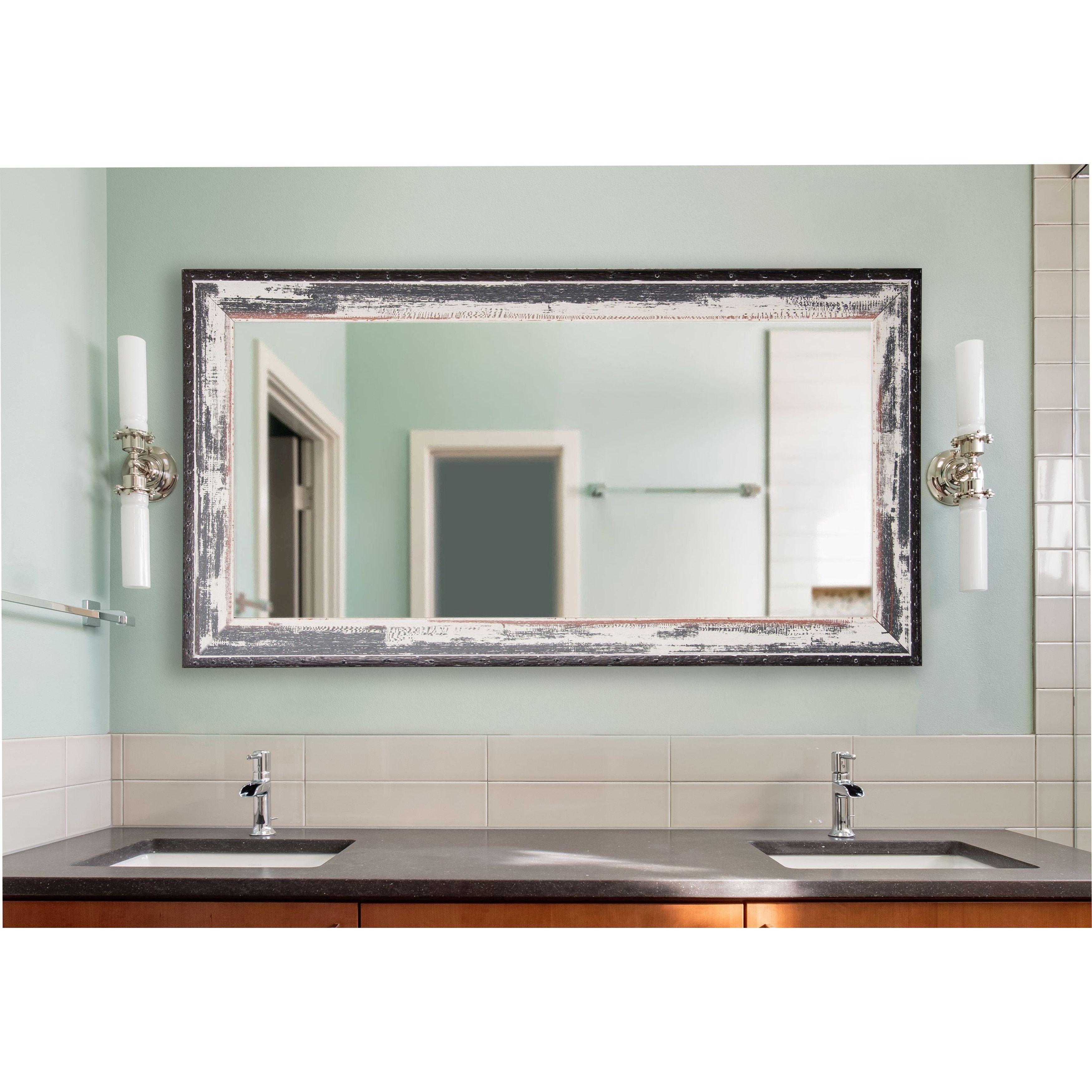 American Made Rayne Rustic Seaside Extra Large Wall/ Vanity Mirror ...
