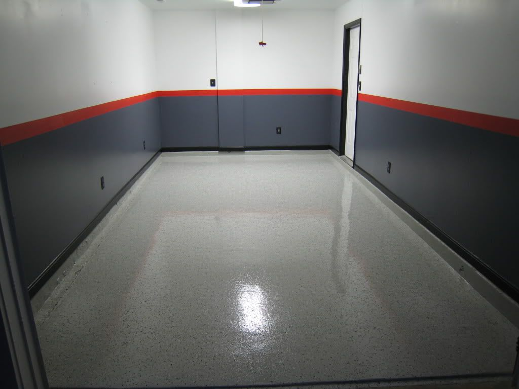 My epoxy floor legacy industrial review lots of pics for Interior wall paint designs