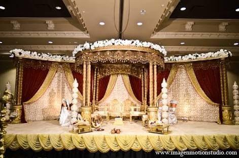Indian Wedding Mandap Gold Decor In Houston Texas By Image N Motion Studio