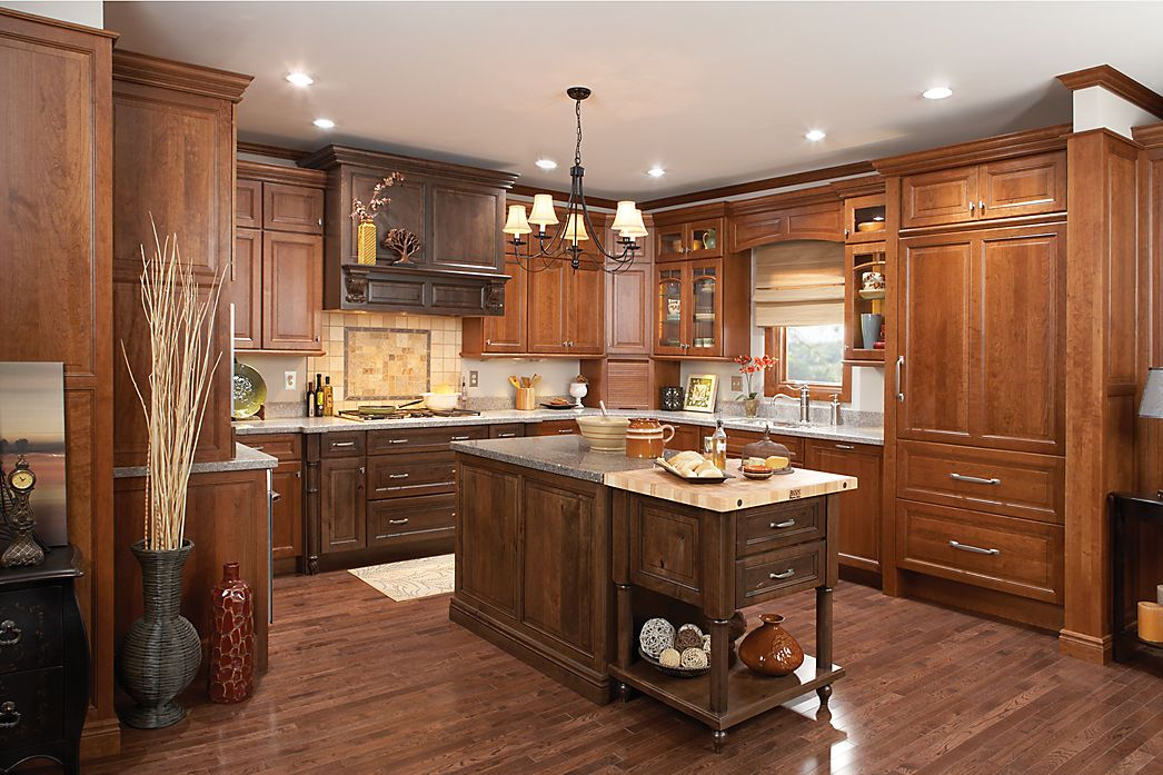 room gallery - medallion cabinetry wellington cherry chestnut and