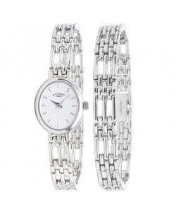 Rotary Ladies Sterling Silver Watch Bracelet Set Lbi20061 Br 02