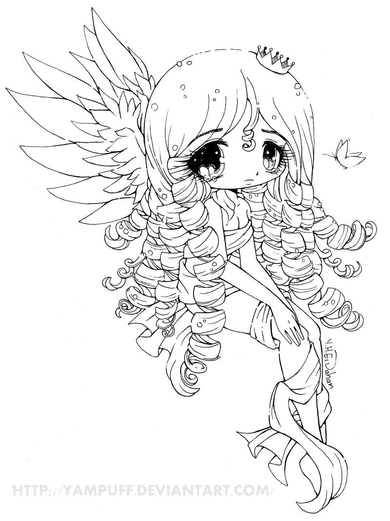 Elyssa Lineart by YamPuff on deviantART Digital Stamps to