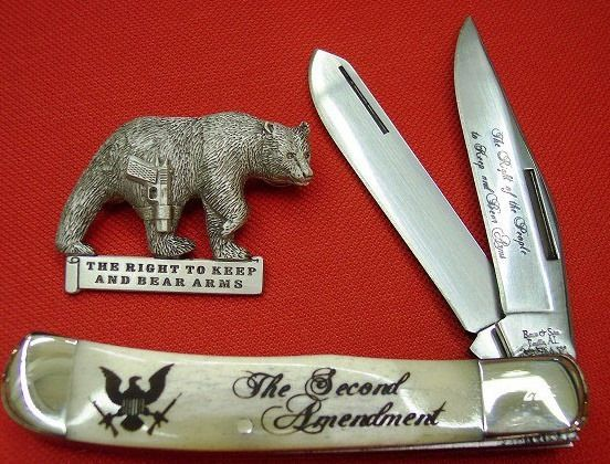 2ND AMENDMENT KNIFE, LIMITED EDITION TRAPPER  https://abalonescales.selz.com/
