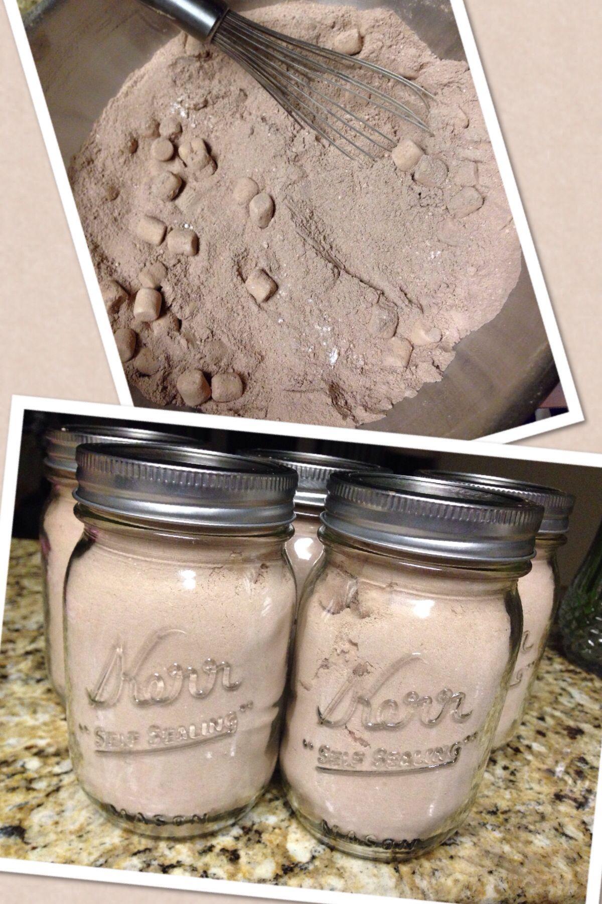 Homemade hot chocolate 1c powdered sugar 1c powdered