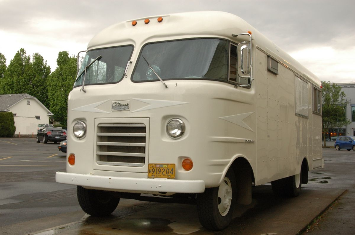classic motorhome OLD PARKED CARS. 1960 Dodge Chinook