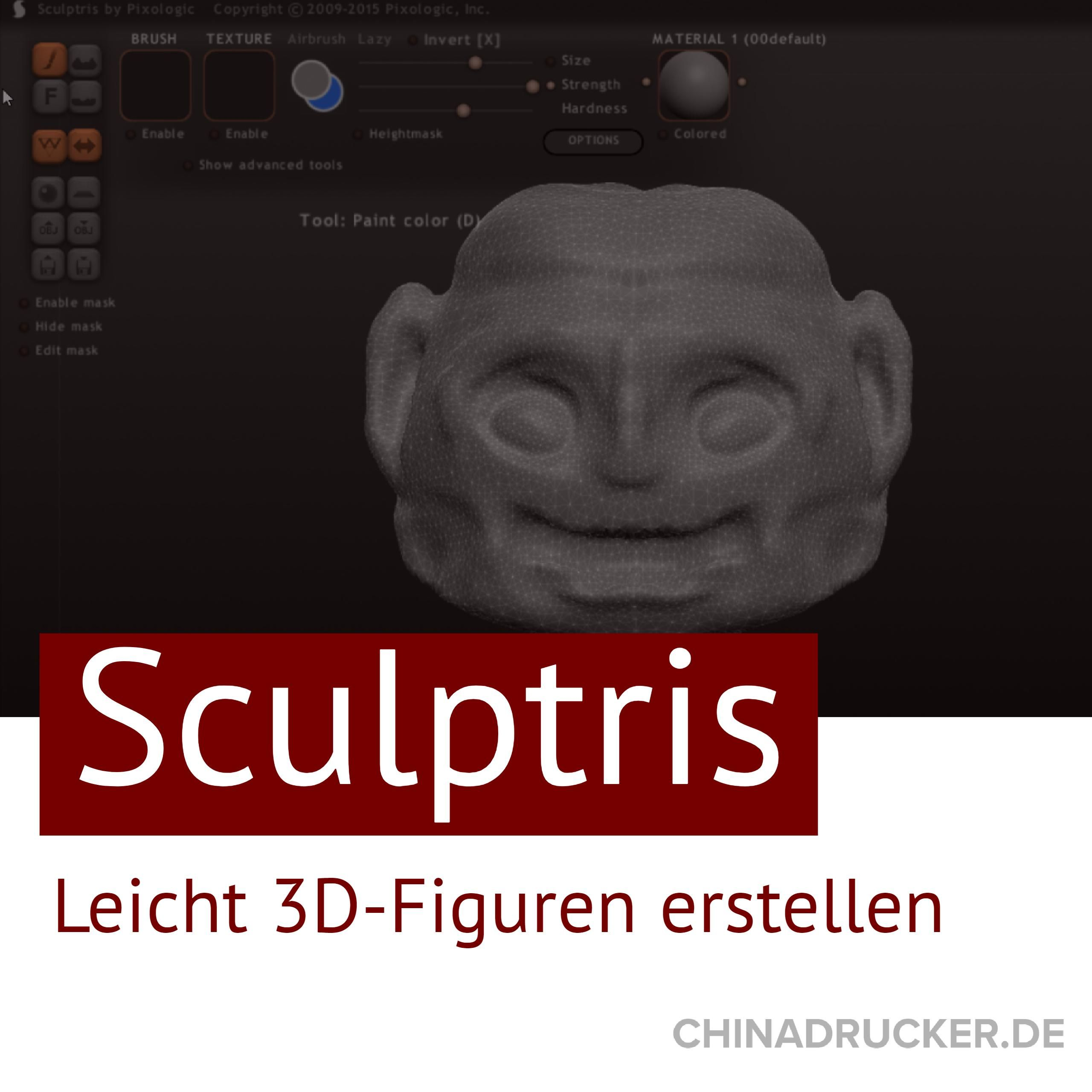 3d Figuren Einfach Selber Modellieren Und Ausdrucken Mit Sculptris Mit Bildern 3d Druck