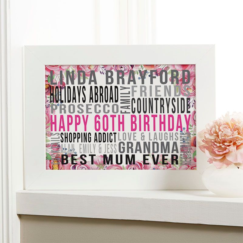 60th birthday gift for her of favourite things