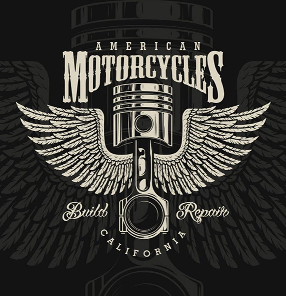 Motorcycle bundle Vector logo design, Cool logo, Logo