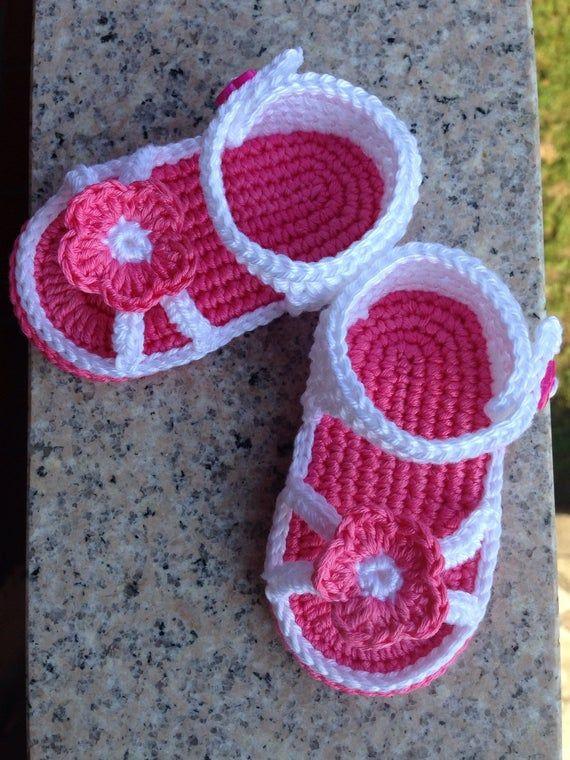 Sandalias de bebé, bebé niñas sandalias, sandalias de bebé hecha a mano de ganchillo #vestidosparabebédeganchillo