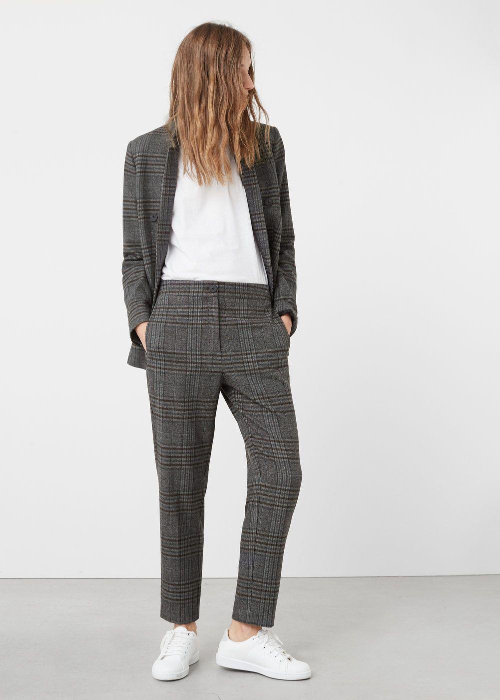 Check suit trousers - Woman | MANGO Finland