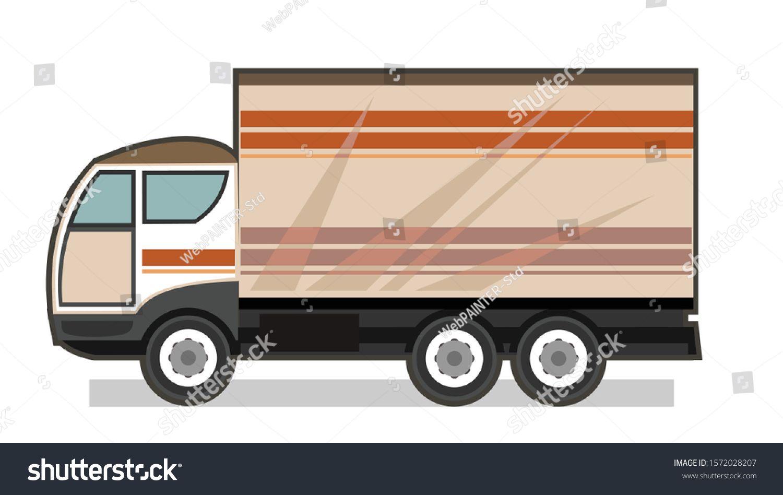 Little Car Truck Vector Cartoon Flat A Small Truck For