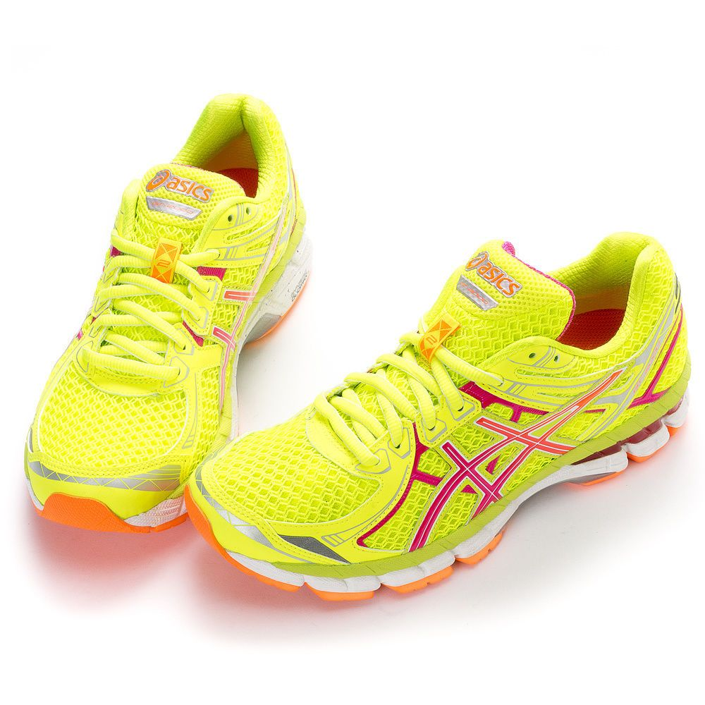 asics gt 2000 2 yellow running shoes
