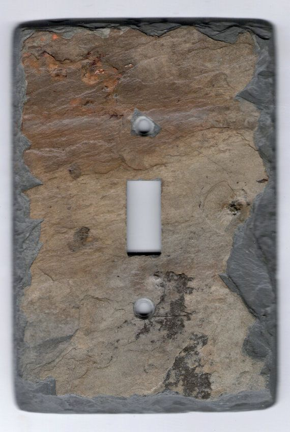 Upcycled Recycled Slate Switchplate Switch Plate Stone Light Wall ...