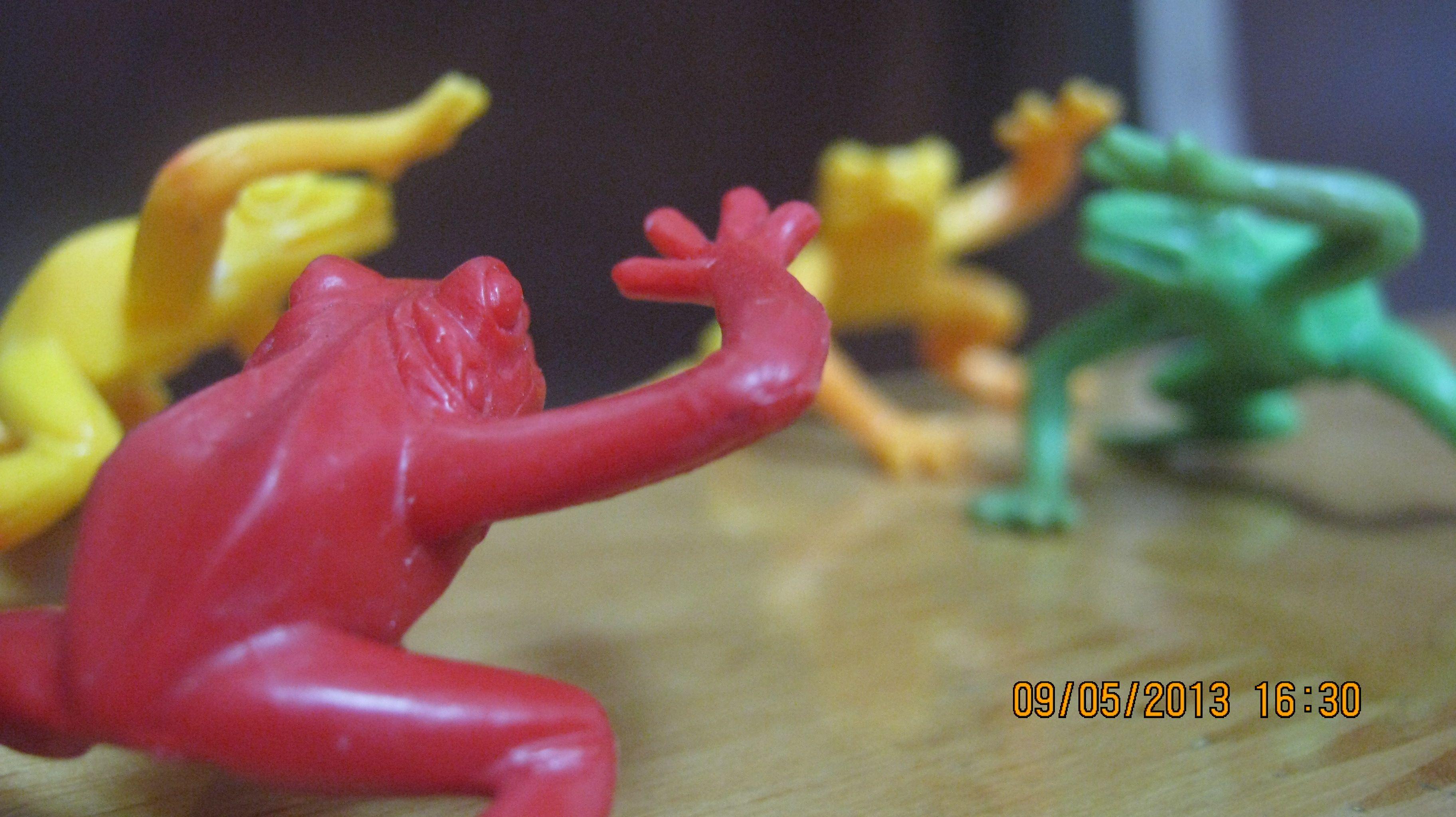 Ninja color frogs!