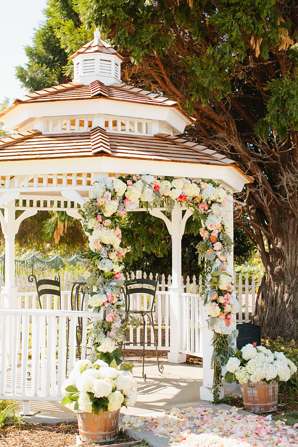 Whimsical Woodland Garden Wedding Gazebo Decorations Outdoor