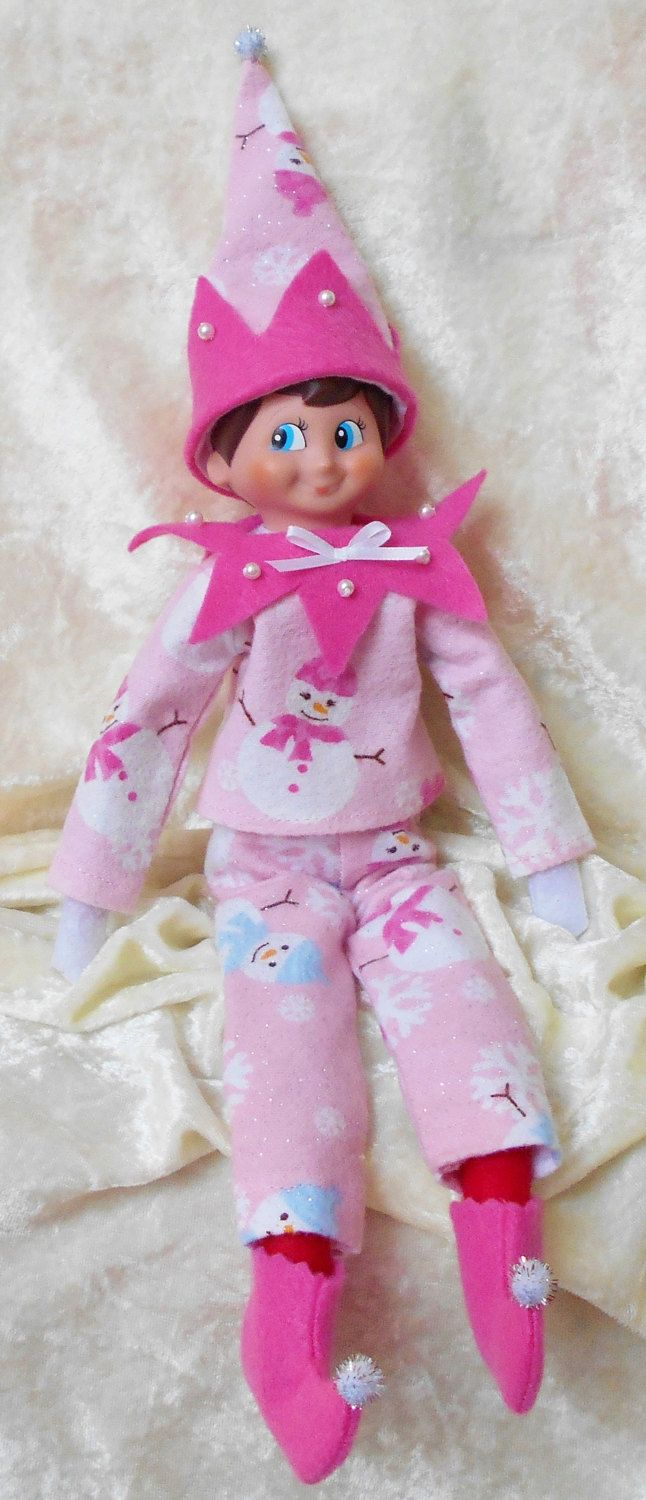 Elf+on+the+Shelf+Girl+Clothes+Pink+Snowman+by