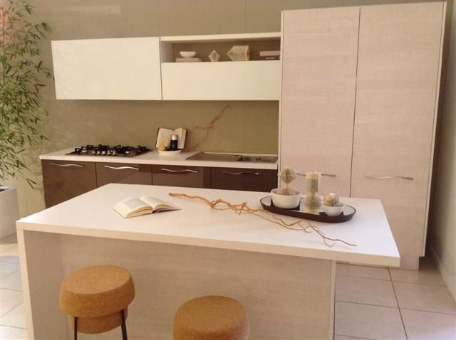 Cucina Lube modello Pamela in finitura rovere bianco tranchè ...