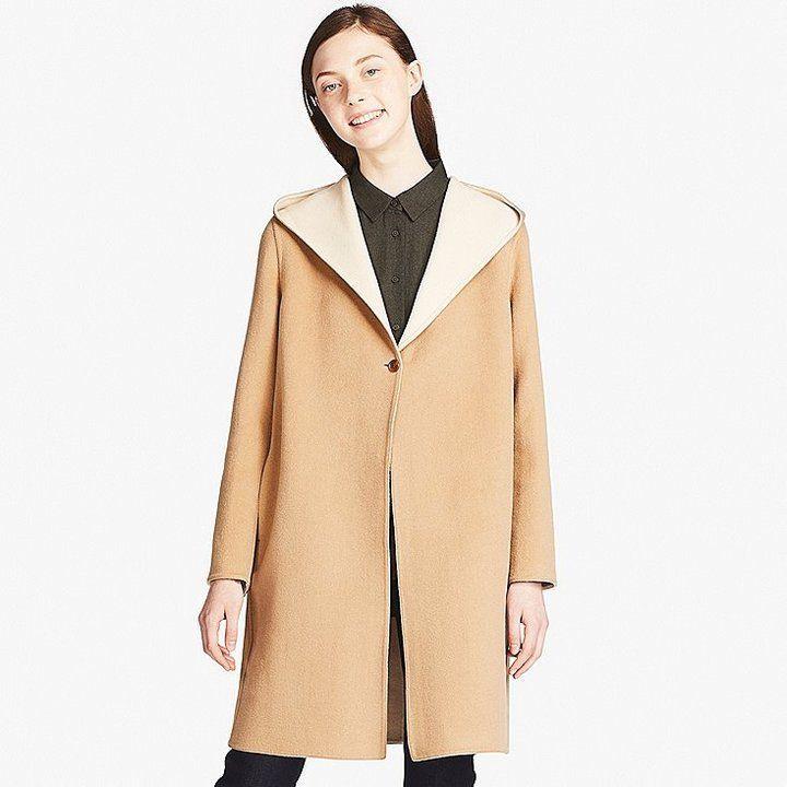 8123481f8034 Uniqlo Women s Double-face Hooded Coat