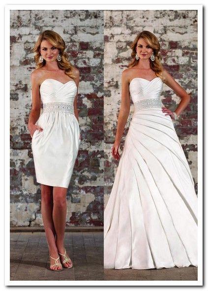 convertible wedding dress detachable skirt | Convertible Wedding ...