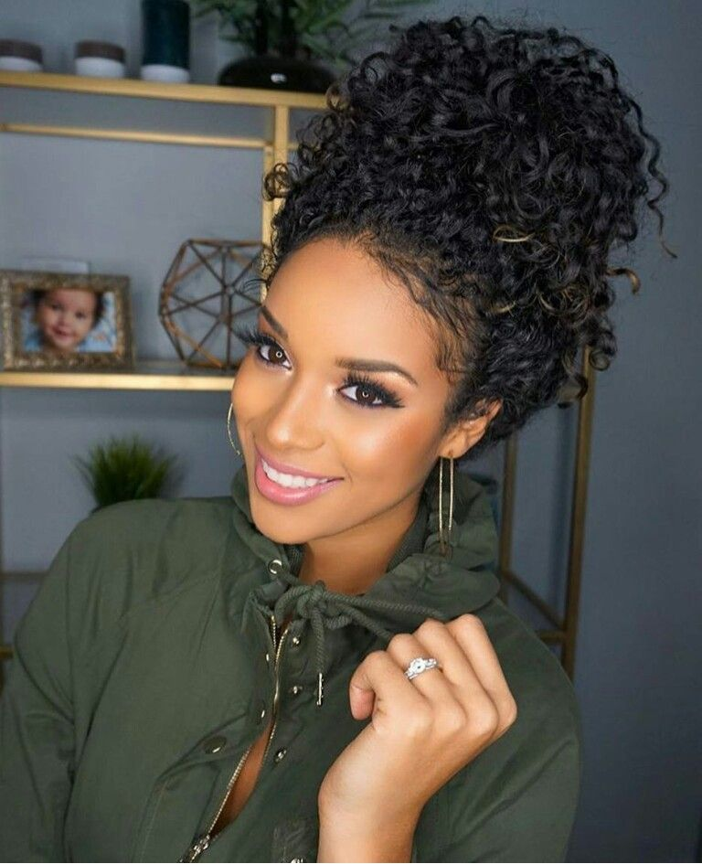 hairstyles hair black Long curly for women