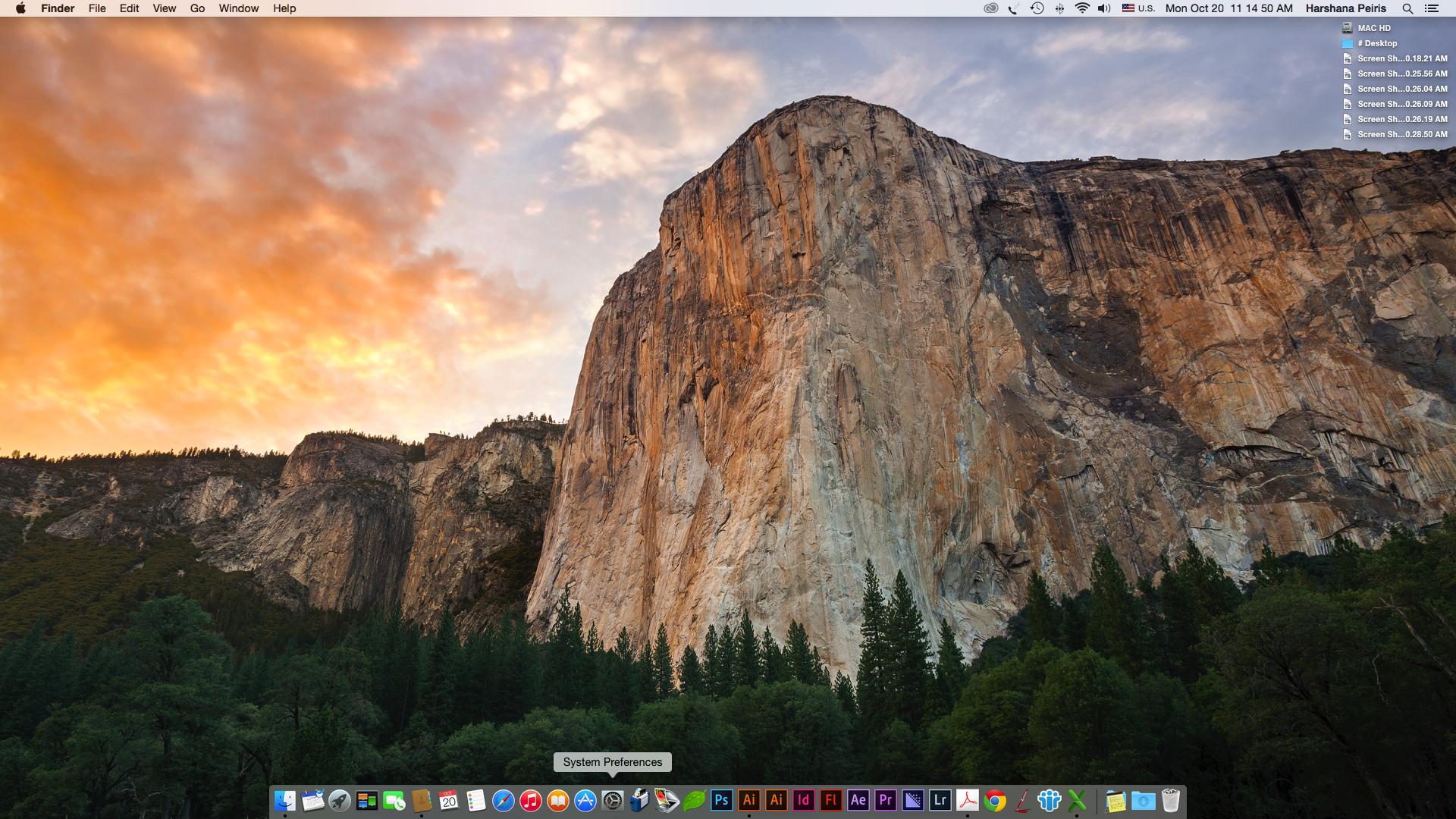 Osxyosemite Apple Osx Yosemite Screenshot Yosemite Wallpaper Yosemite Mountains Yosemite