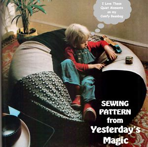 Full Size SEWING PATTERN To Make A Giant Bean Bag Chair Round Floor Cushion