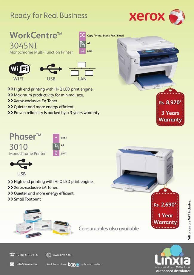 Linxia - Discover new Xerox printer / Multi-function printer