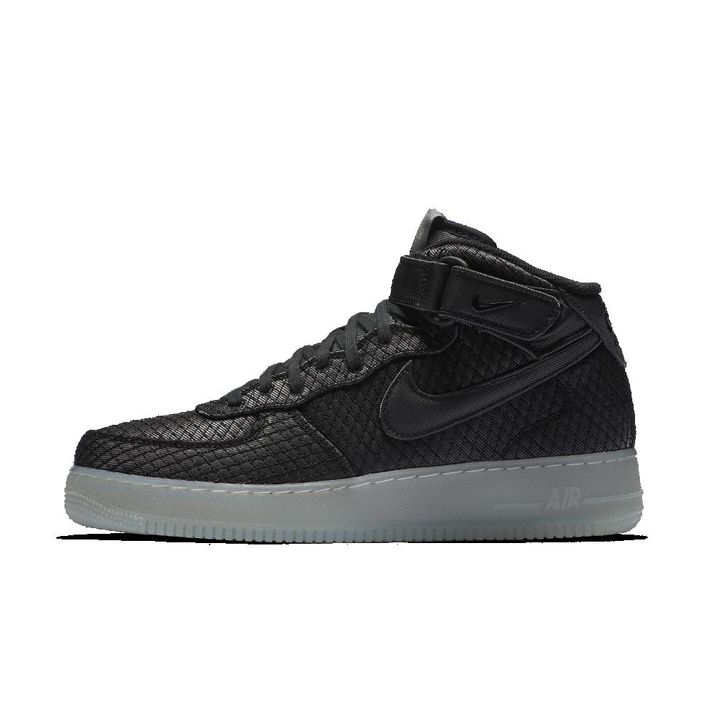 meet ff7ed b9c99 Nike Air Force 1 07 Mid LV8 Men s Shoe Size 18 (Black) - Clearance