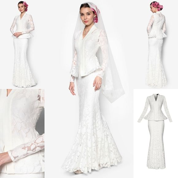 Baju Pengantin Terkini 2016 2017 Rizalman Bridalwear Hydrangea Flare Kebaya 437aa31f7b