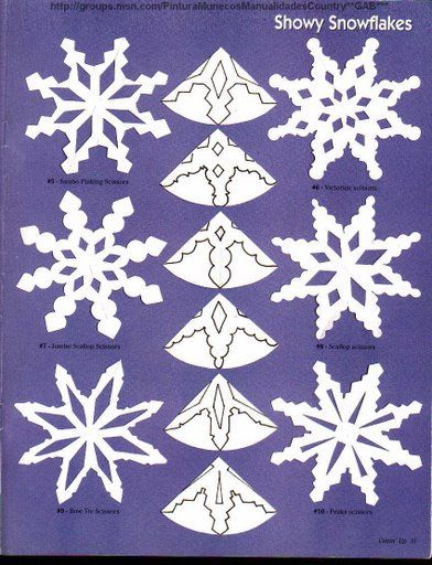 6 point snowflake template  Love paper snowflakes but need some ideas to get started ...