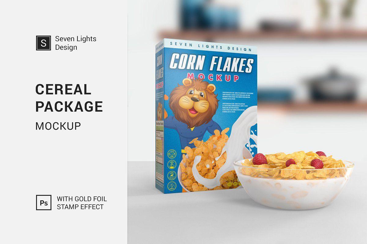 Cereal Package Mockup Cereal Packaging Packaging Mockup Fries Packaging