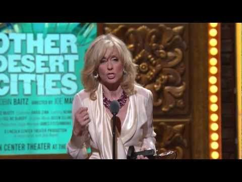 Judith Light of Other Desert Cities accepting a Tony Award during the 2012 Tony Awards ceremony.