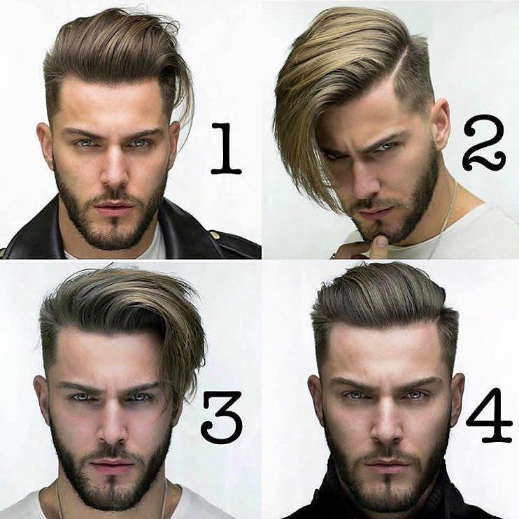 Corte de cabello con la numero 2