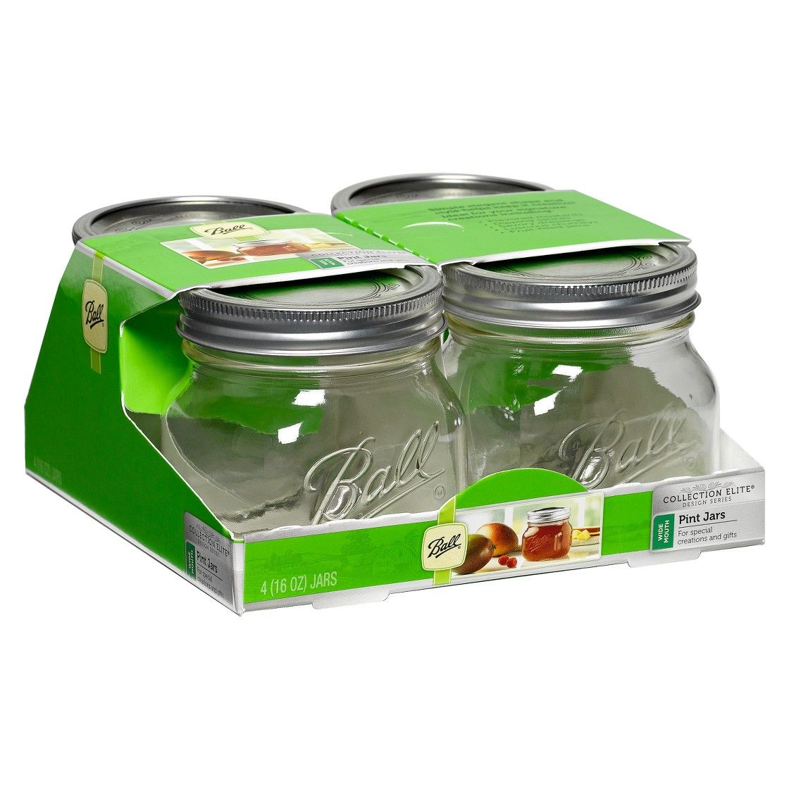 Ball� 1 Pint (16 oz.) Glass Canning Jars - Set of 4