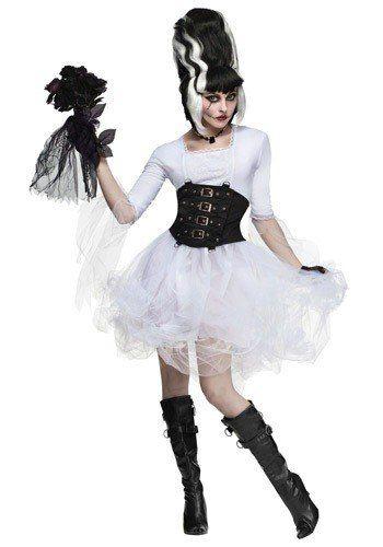 disfraz de novia frankenstein, monster, monstruo para damas