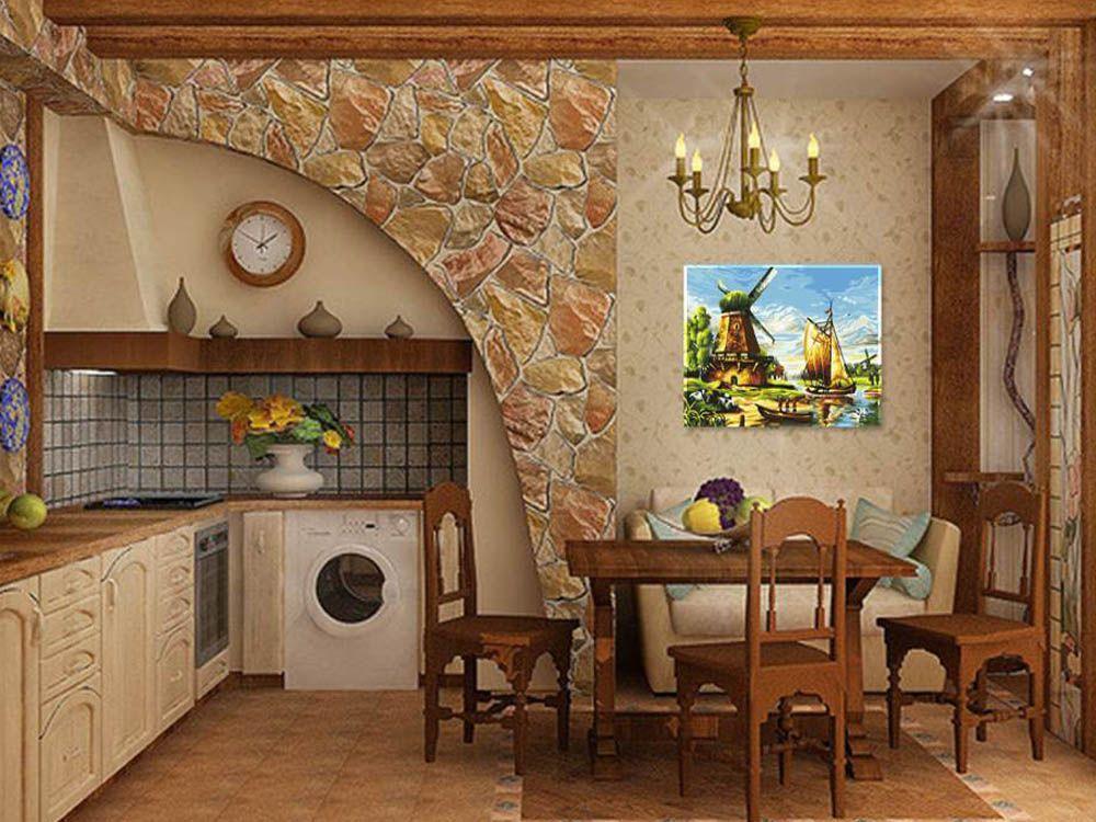 Картина по номерам «У мельницы» | Картины, Раскраска по ...