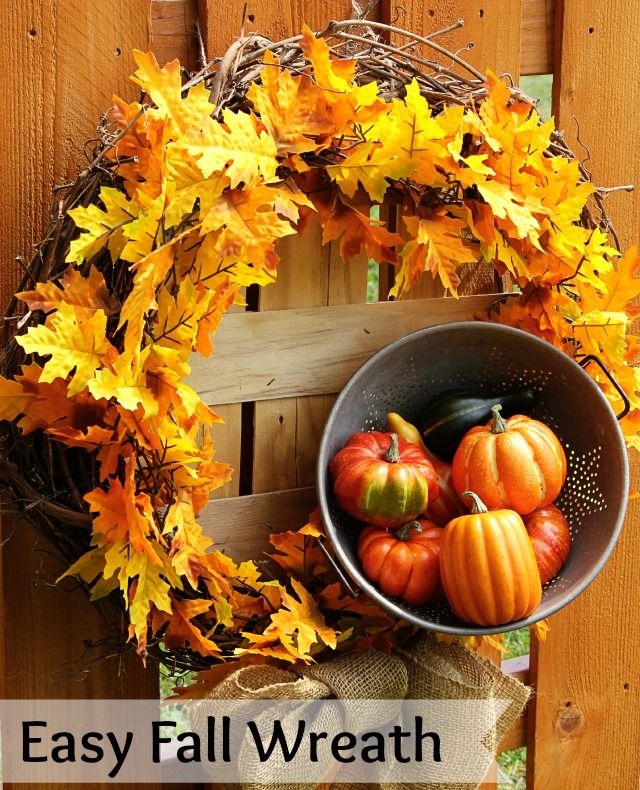 Quick & easy DIY fall wreath
