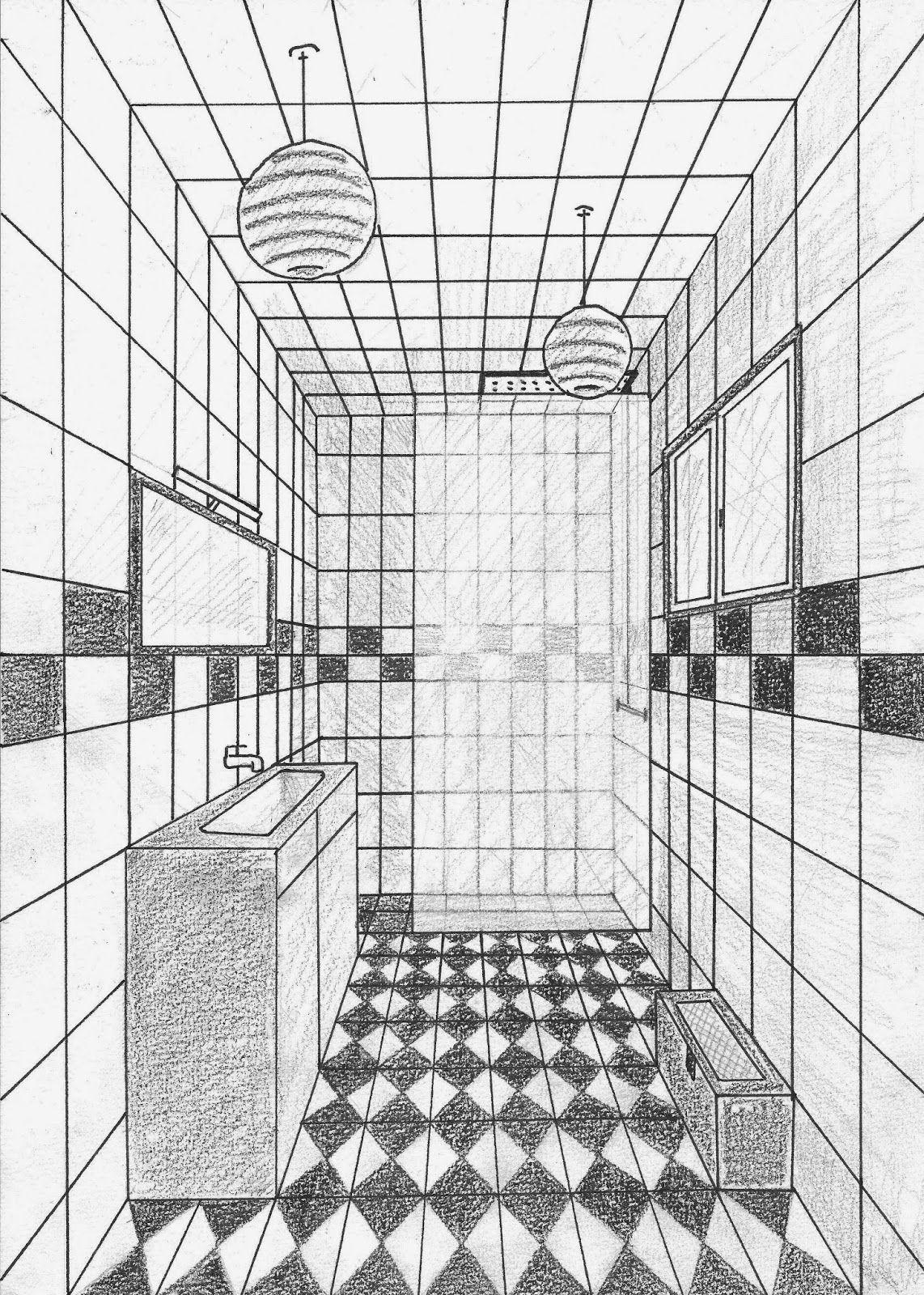 Perspective chez vapi blog brai yba drawings interior sketch et drawing interior - Dessiner un meuble en perspective ...