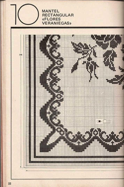 Patrón de Mantel | NAPPES | Pinterest | Patrones de mantel, Mantel y ...