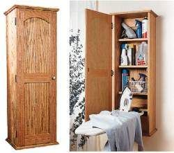 Charming Ironing Board Hideaway Cabinet Plans