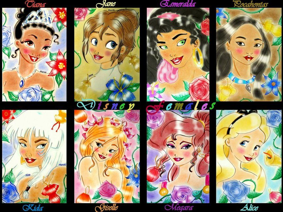 Disney Females by migio90 on deviantART