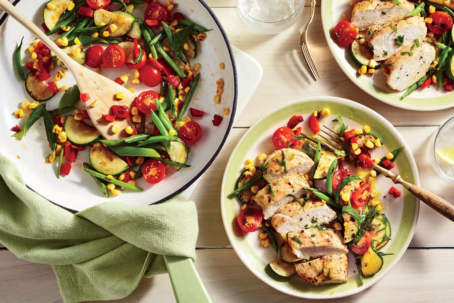 Learn how to make Chicken and Charred Succotash Salad . MyRecipes has 70,000+ tested recipes and videos to help you be a better cook