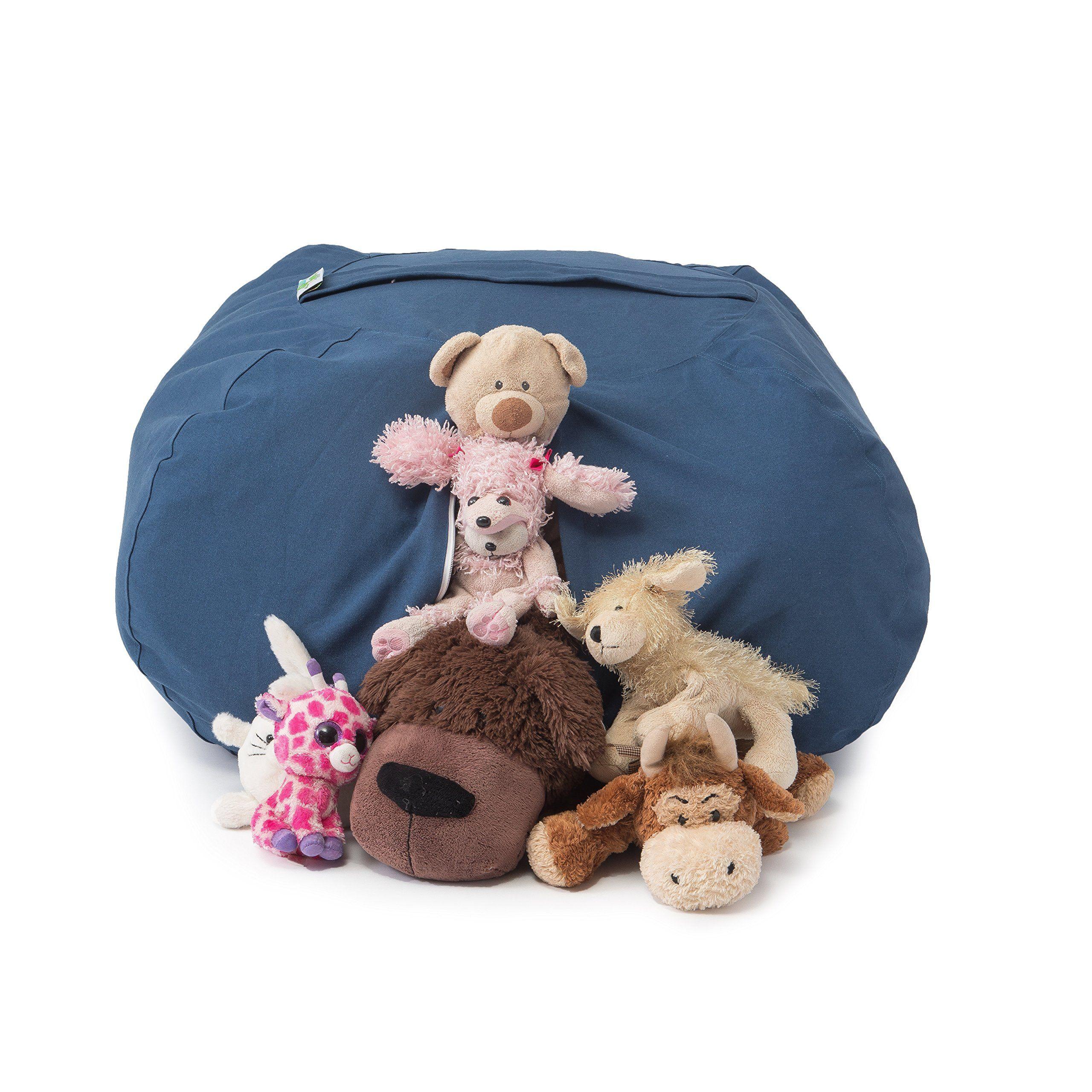 Best stuffed animal storage bean bag chair premium cotton