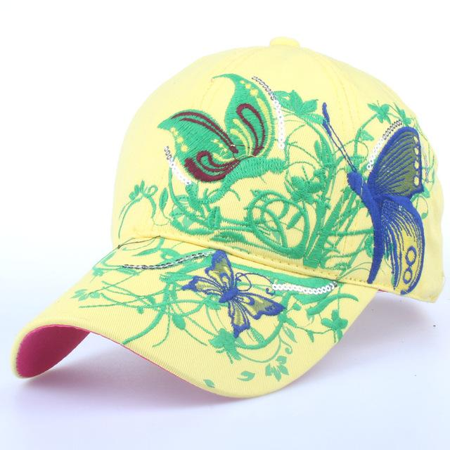 b5e5df436 The flowers and butterflies baseball cap 6 colors to choose in 2019 ...